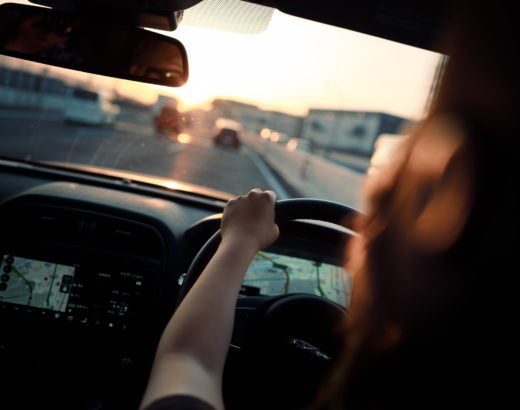 Driving and going to the shops with my mom