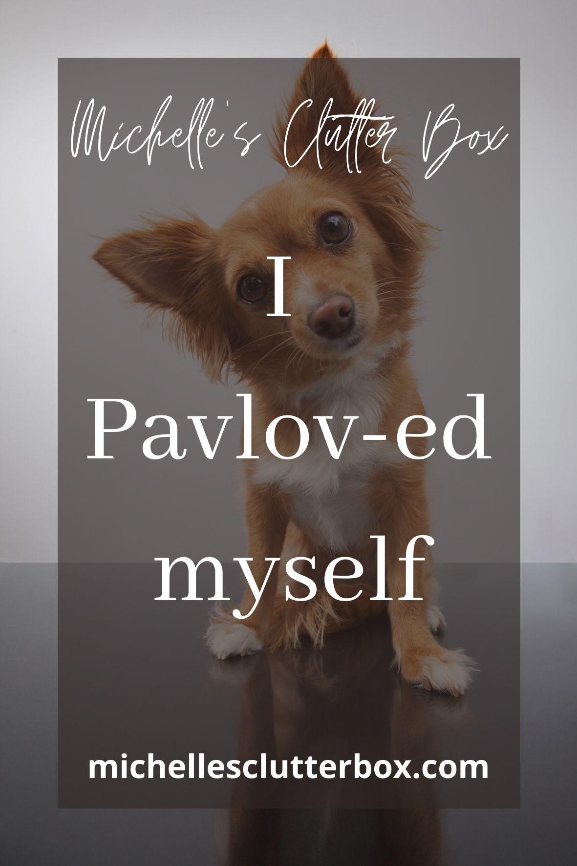 I Pavlov-ed myself